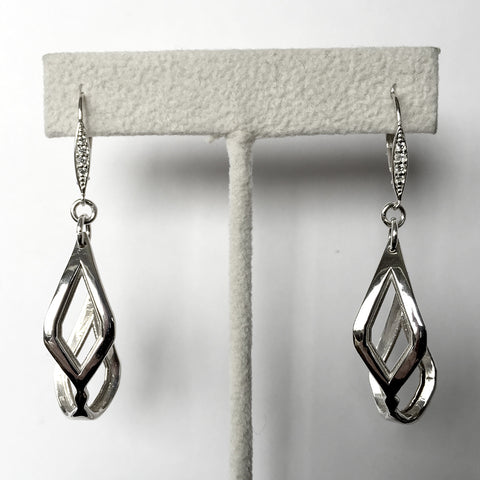 'Lozenge' Silver Earrings