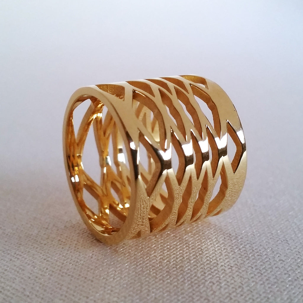 'Lozenge' Ring Solid