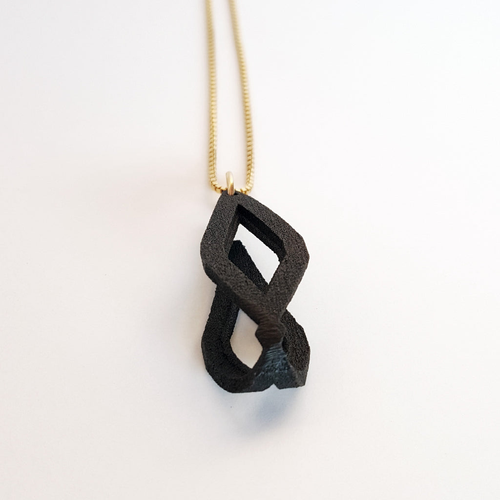 'Lozenge' Mini Steel Pendant