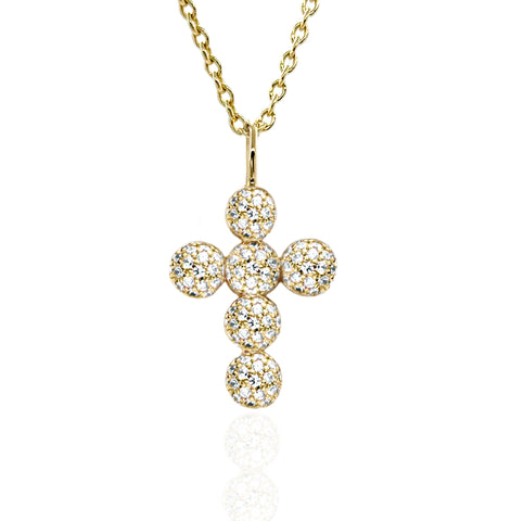 'Icon Sphere Pavé Cross' Pendant