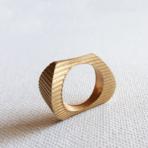 'Shore' Ribbed Ring