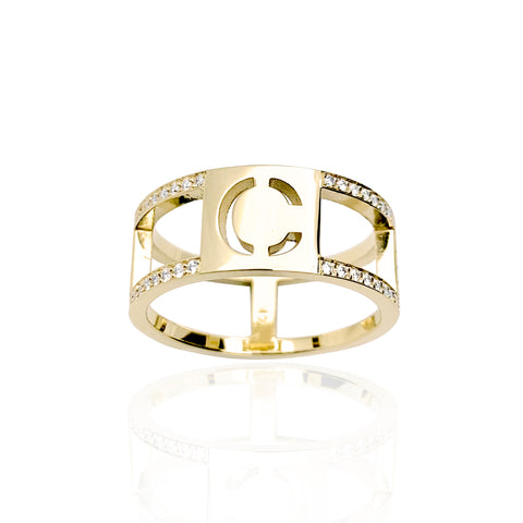 """Stencil"" Diamond Band"