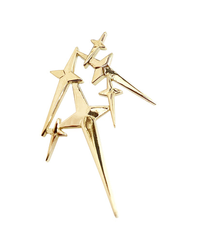 'Star Cross'd Lover' Yellow Gold Stud
