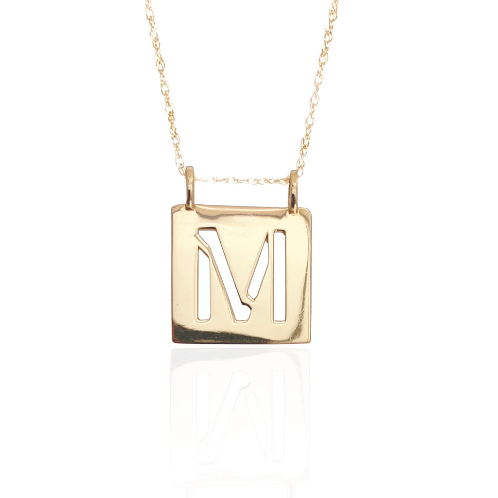 """STENCIL"" Monogram Necklace"