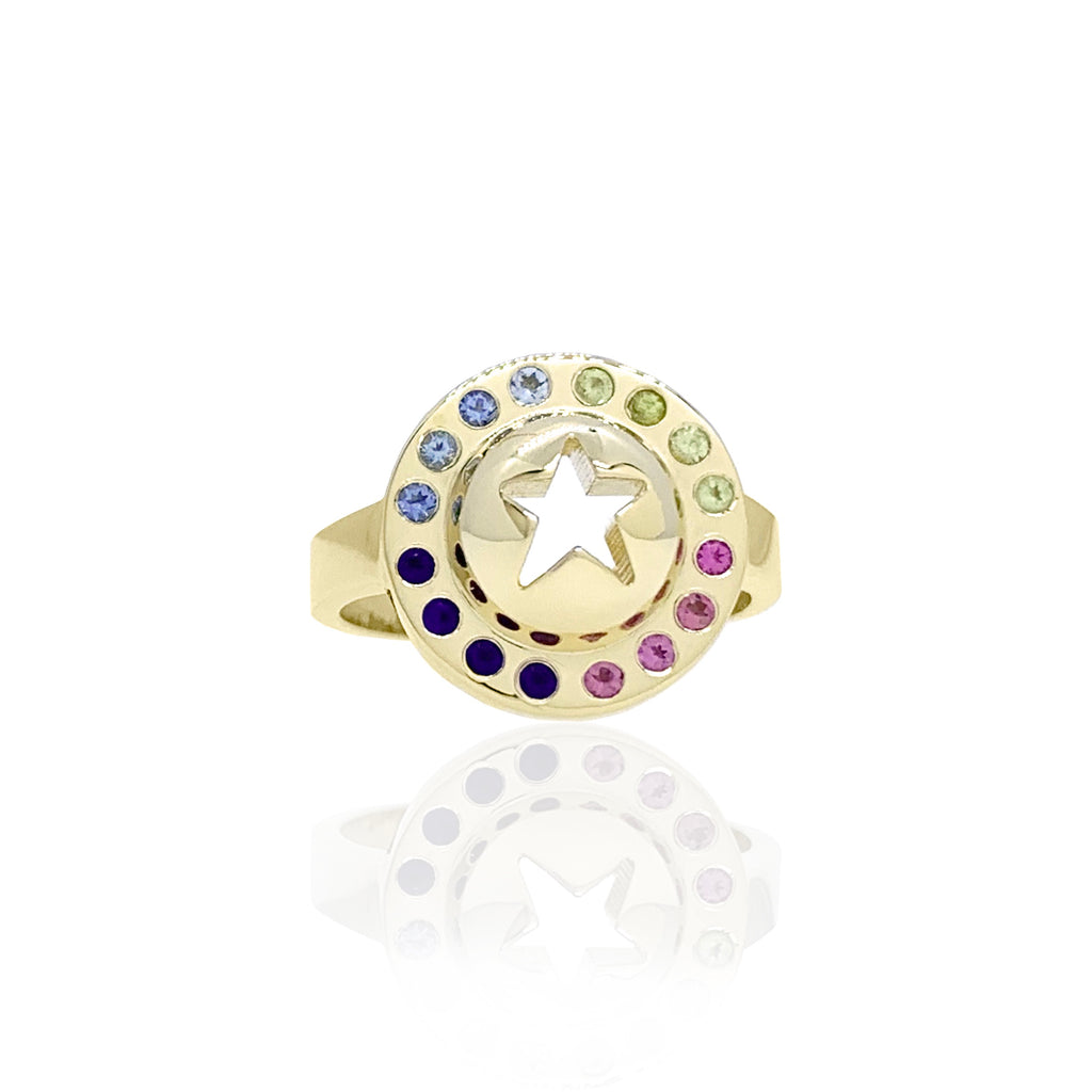 'Icon Punched Star' Ring
