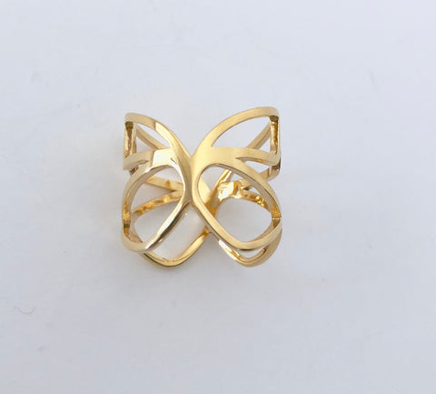 'Pieris' Gold Ring
