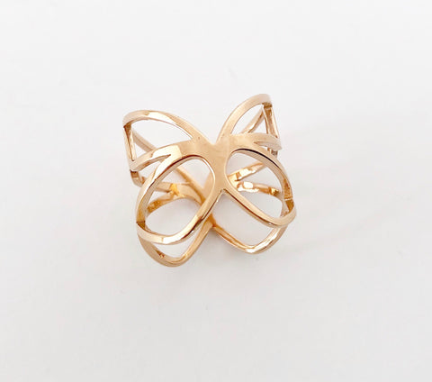 'Pieris' Rose Gold Ring
