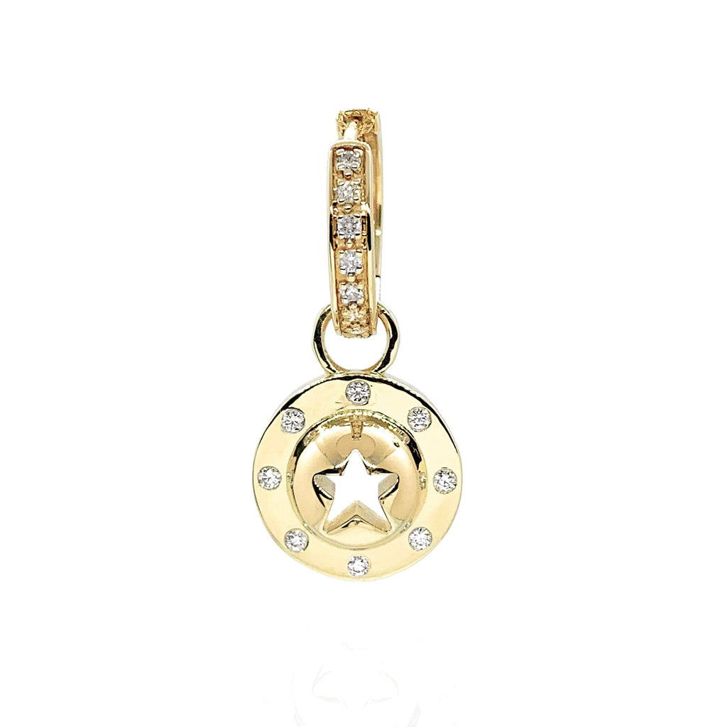'Icon Punched Star' Droplet Earring
