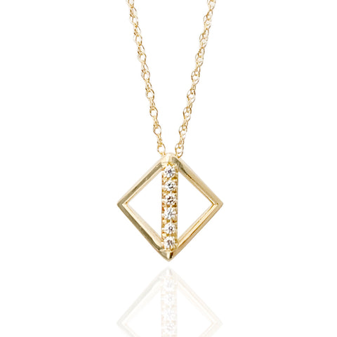 'Tess' Diamond Single Pendant
