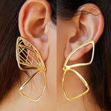 'Pieris' Gold Earrings