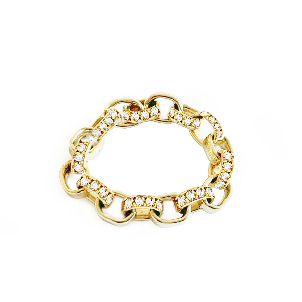 'Linked' Diamond Gold Ring