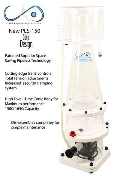 CAD Lights PLS-150 (Conic) Super Space Saving Pipeless Protein Skimmer