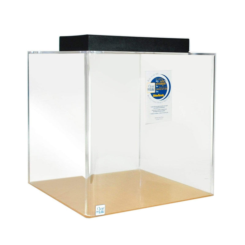 Clear for Life 25 Gallon Cube Acrylic Aquarium  - Fresh or Saltwater