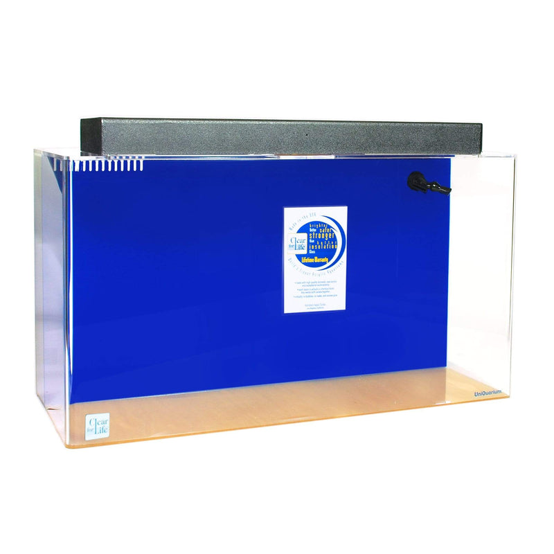 "Clear For Life Rectangle UniQuarium 3-in-1 Acrylic Aquarium - 100-300 Gallons 100 Gallons - 60""x 18""x 20"" / Sapphire Blue"