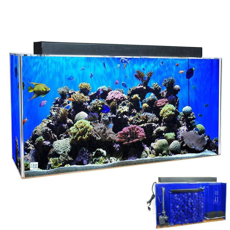 Clear For Life Rectangle UniQuarium 3-in-1 Acrylic Aquarium - 100-300 Gallons