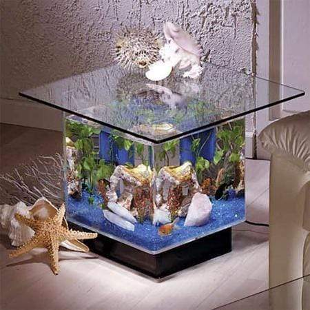 Midwest Tropical Aquarium End Table - 15 Gallon Freshwater Acrylic (670)