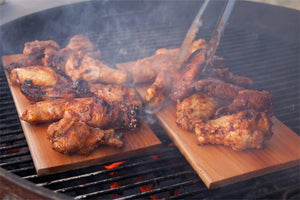 Cedar Planked Chicken Wings | FireFly Barbecue