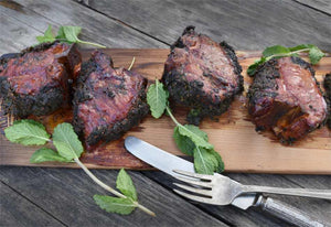 Cedar Planked Lamb Chops with Mint Gremolata Recipe | FireFly Barbecue