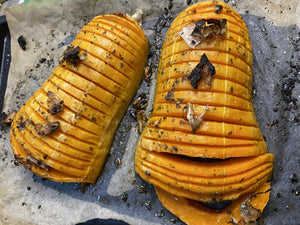 Florida Cuban MoJo Hasselback Butternut Squash | FireFly Barbecue