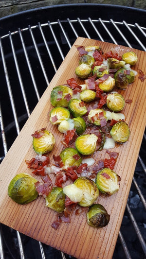 Oven Planked Sprouts | FireFly Barbecue