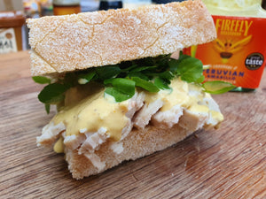 Turkey Sandwich with Amarillo Sauce | FireFly Barbecue