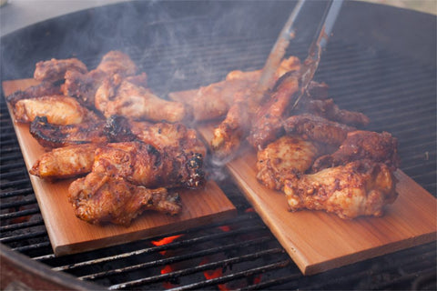 Cedar Planked Chicken Wings