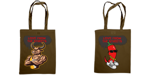 Love form the Streets - Shoulder tote, Sexy Bull & Chilli logos