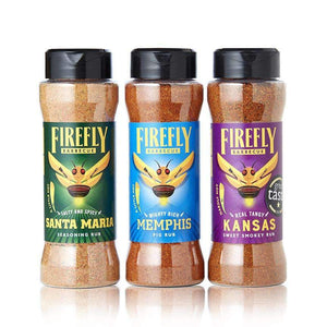 BBQ Rub Selection Pack 3, 4, and 5 (get 1 free) jars - FireFly Barbecue