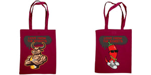 Love form the Streets - Shoulder tote, Sexy Bull & Chilli logos - FireFly Barbecue