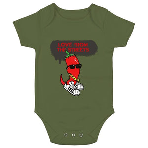 Love from the Streets - Baby bodysuit, Chilli logo - FireFly Barbecue
