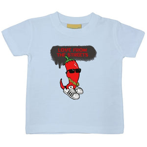 Love from the Streets - Baby/Toddler t-shirt, chilli logo. - FireFly Barbecue