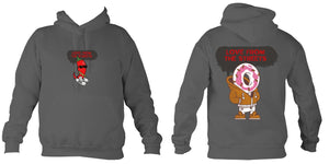 Love from the Streets - Hoodie - Candy Cajun Logo - FireFly Barbecue