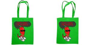 Love from the Streets - Shoulder tote bag, chilli logo - FireFly Barbecue