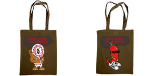 Love from the Streets - Shoulder tote, Candy cajun logo & chilli logo - FireFly Barbecue