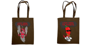 Love from the Streets - Shoulder tote, Nashville hot & chilli logos. - FireFly Barbecue