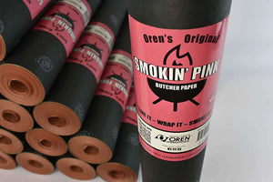"OREN Pink/Peach Butcher Paper - 18"" x 150ft roll - FireFly Barbecue"