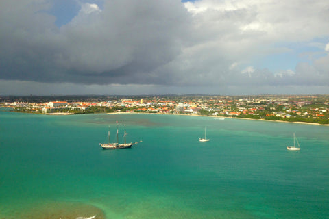 Aruba  from the airplane