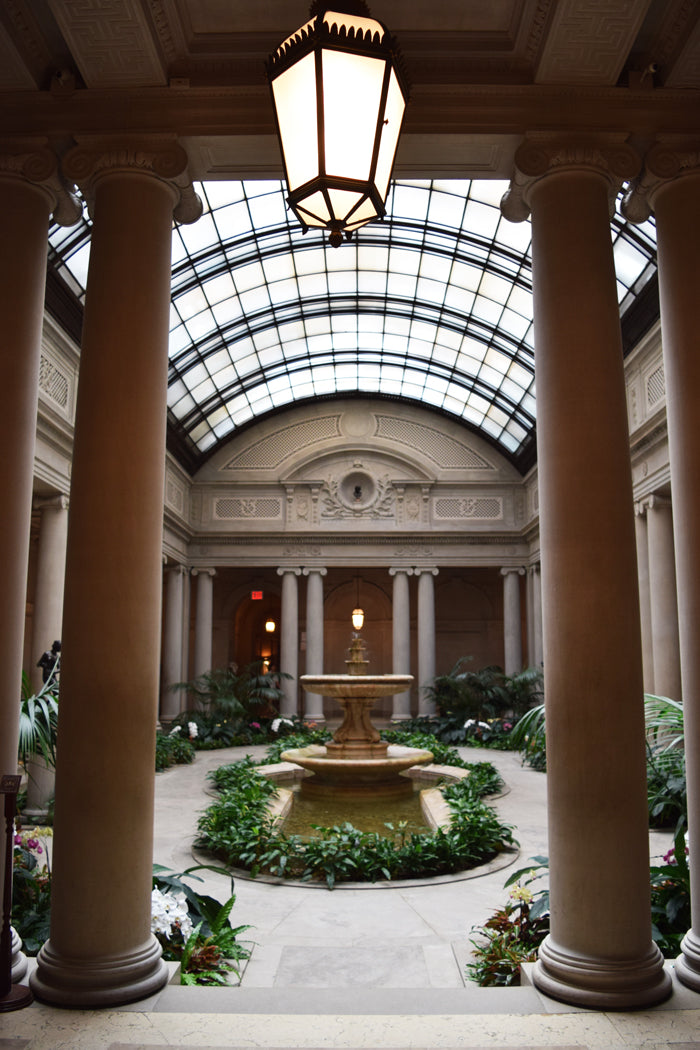 Frick Collection courtyard in New York City
