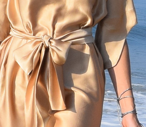 Gold Silk Kate Stoltz NYC Dress Details