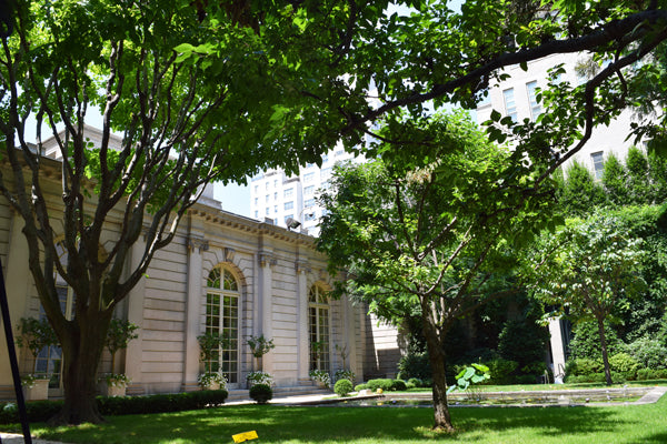 Frick Collection outdoor courtyard in New York City