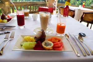 Breakfast at viceroy in ubud bali indonesia