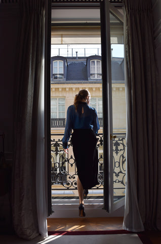 fashion designer Kate Stoltz in Paris