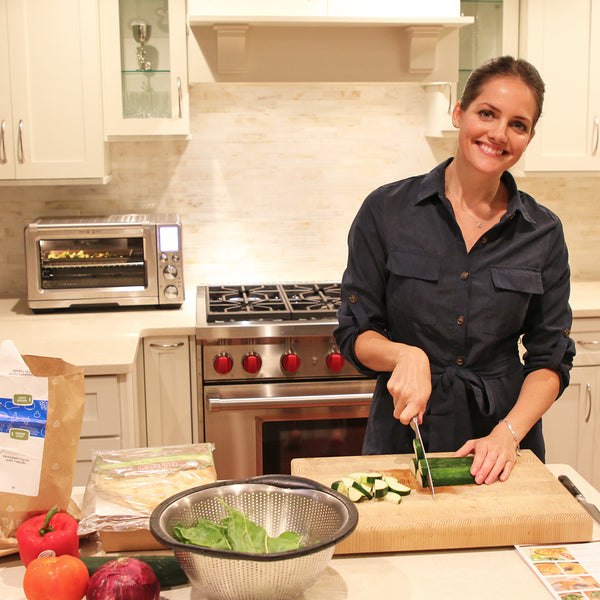 Kate Stoltz cooking with Green Chef