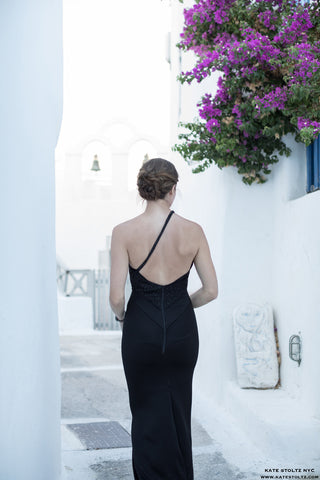 Kate Stoltz in Santorini Greece