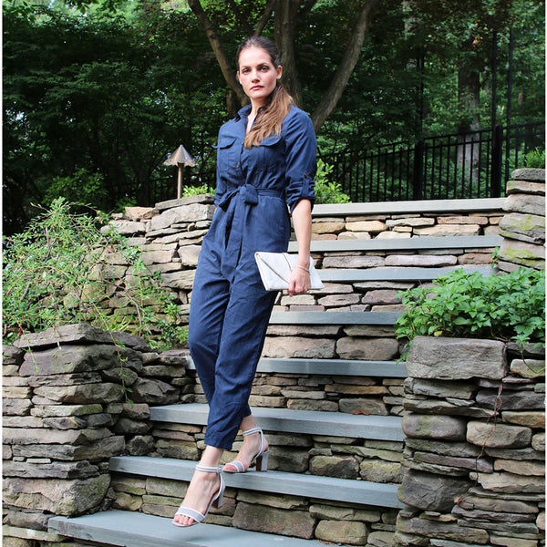 navy groovaluation jumpsuit