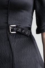 Gunmetal Waist Buckle Detail