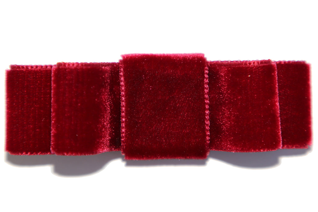 Holiday Red Velvet Hair Bow / Multiple Colors Available