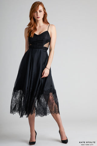 Black Organza Santorini Cocktail Dress