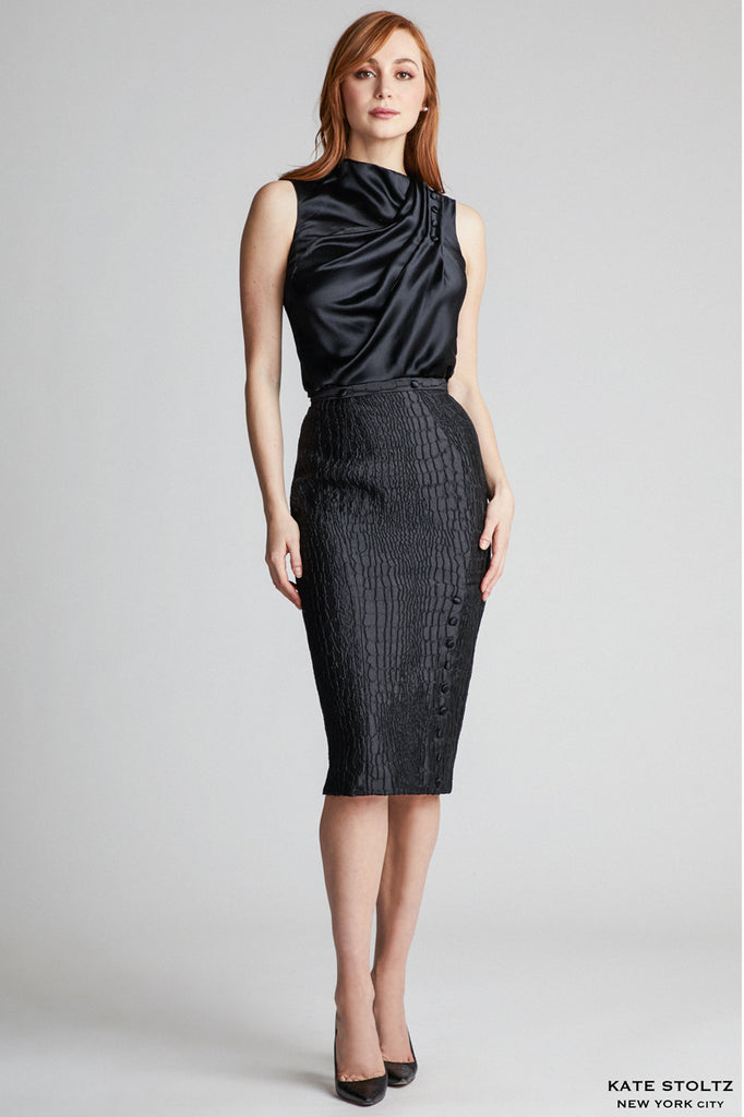 Kate Stoltz snakeskin skirt
