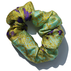 Lime-and-Purple-Python-Printed-Italian-Silk-Charmeuse-Scrunchie